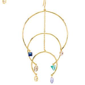 Gorjana Luca Shimmer Arc Mobile Gold Earrings NEW